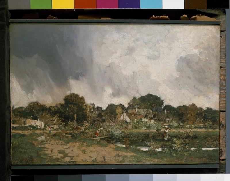 Landscape: the Outskirts of a Village (WA1940.1.33)