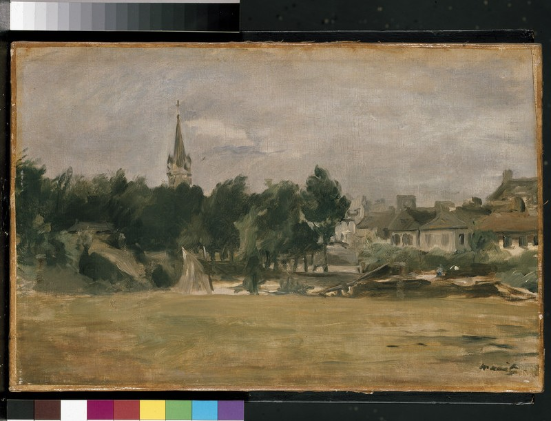 Landscape with a Church Tower (WA1940.1.6)
