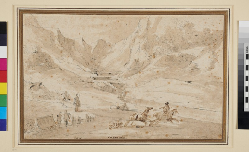 Landscape with Horsemen (WA1940.1.67, recto)