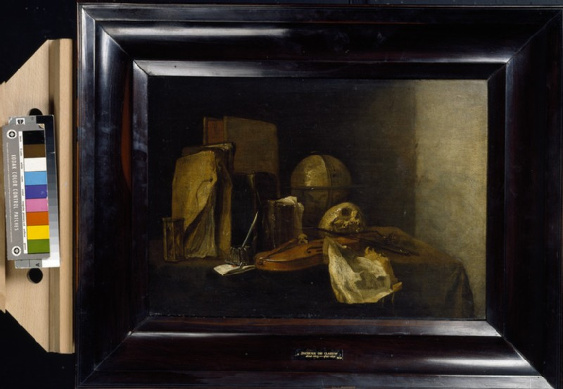 Vanitas Still life with a Violin