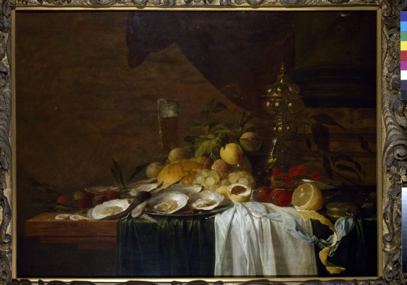 Still Life with Fruit and Oysters (WA1940.2.35)