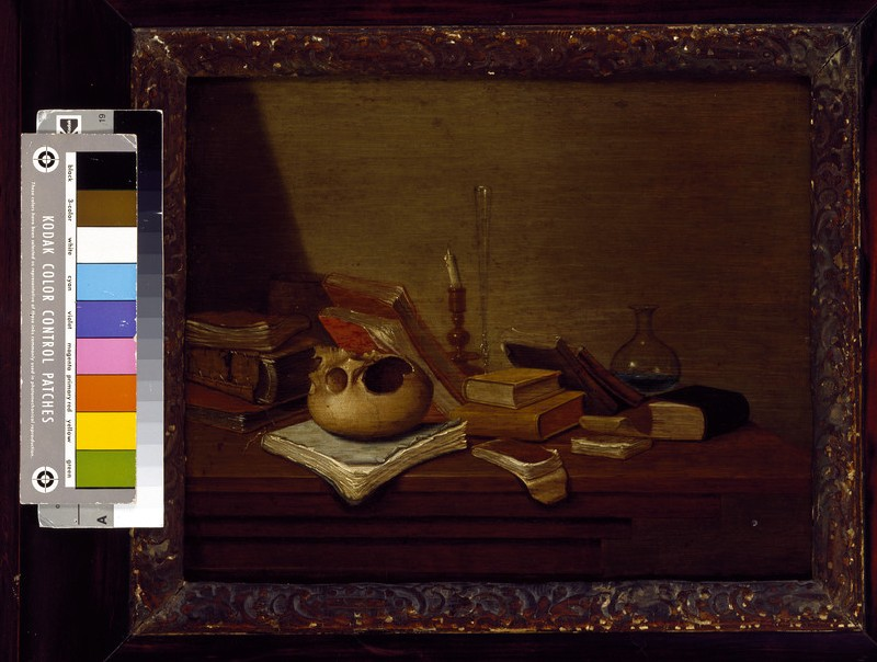 Still Life with a Skull and Books
