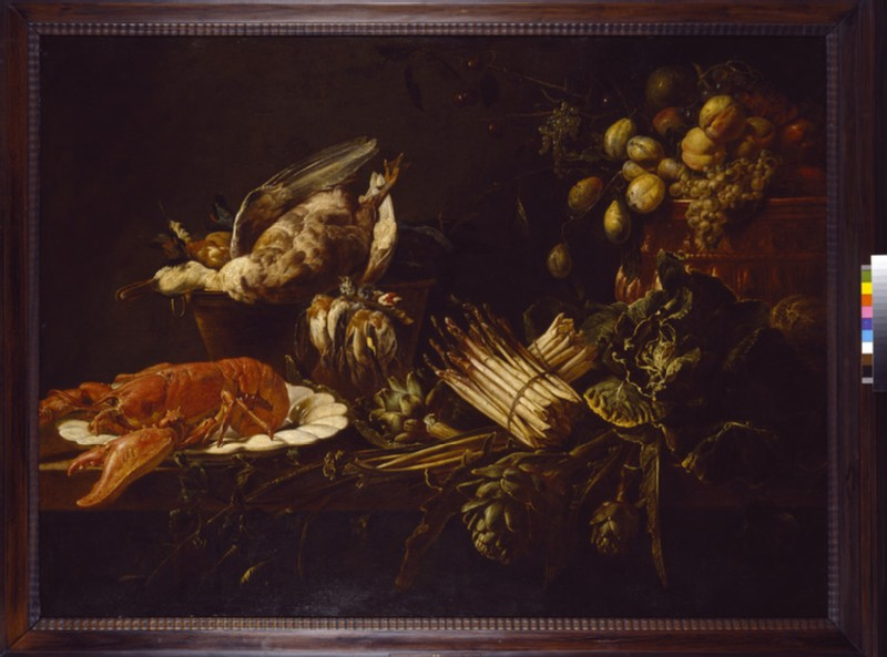 Still Life of a Lobster, Vegetables, Fruit, and Game (WA1940.2.82)