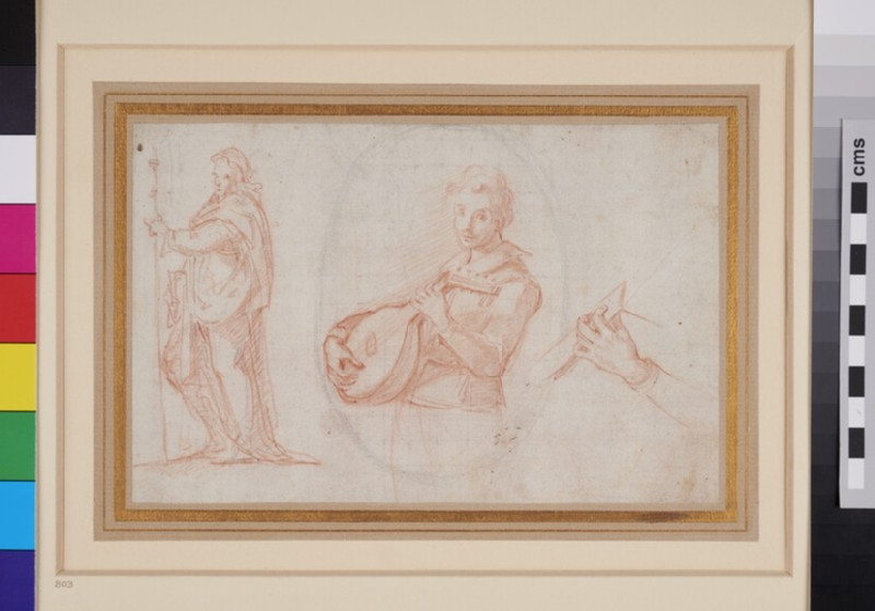 Musician and other Sketches (WA1940.33, recto)