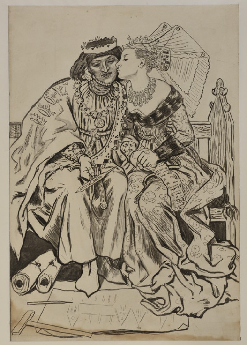 King René's Honeymoon: architecture (WA1940.40)