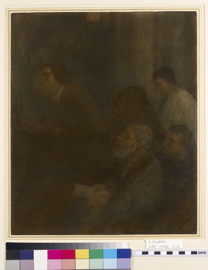 Interior with an Organist and Three Figures (WA1940.5.2)