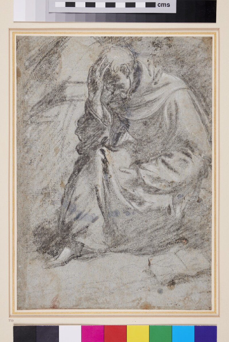 Seated Monk in Meditation (WA1940.77, verso)