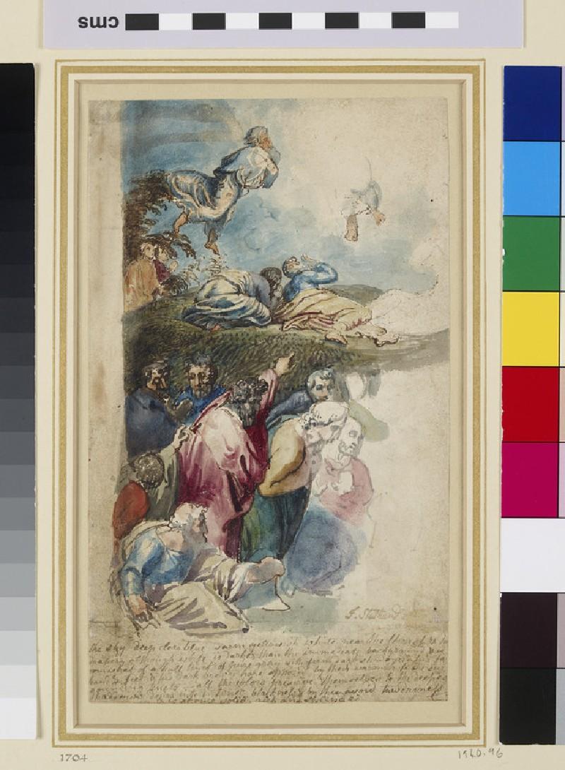 Recto: Studies from Raphael's Transfiguration<br />Verso: Studies from Raphael's Transfiguration