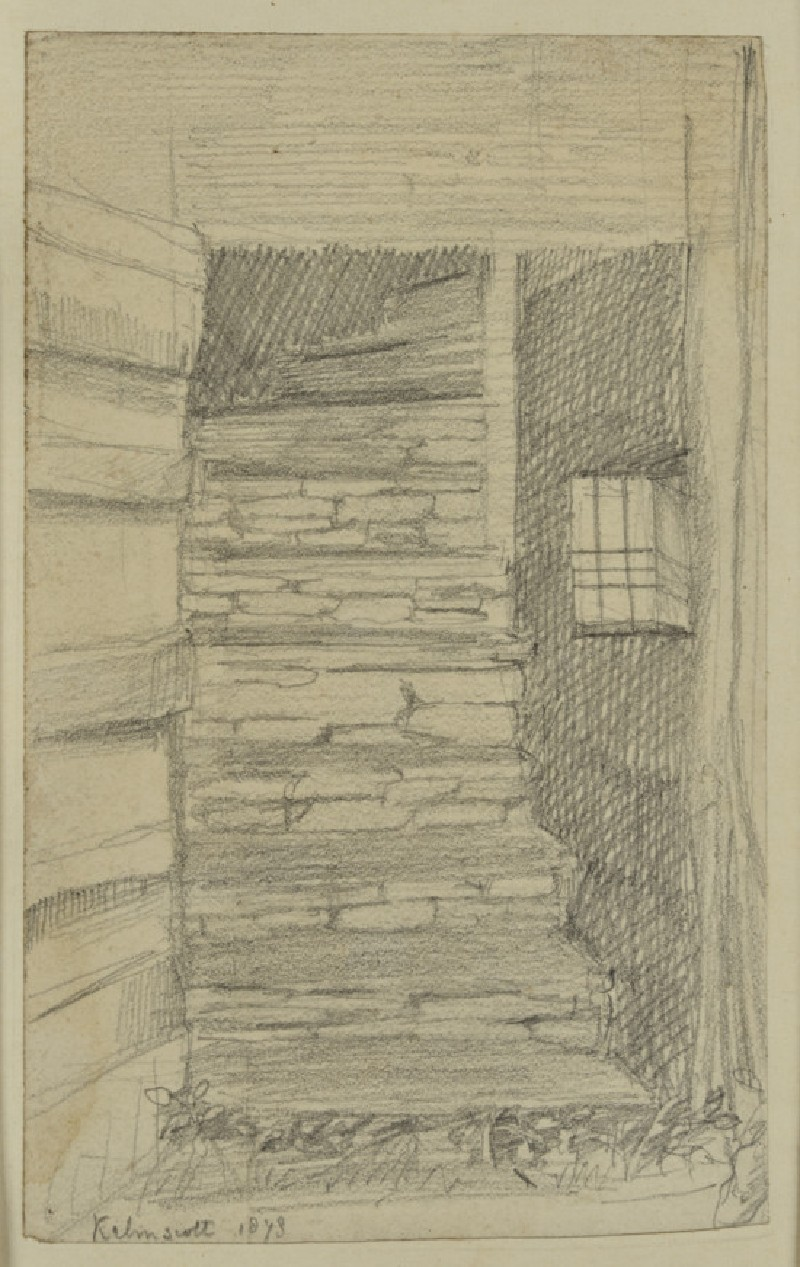 The back stairs at Kelmscott Manor (WA1941.108.17)