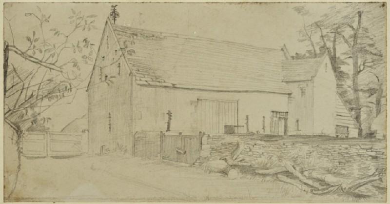 View of a barn at Kelmscott Manor (WA1941.108.18)