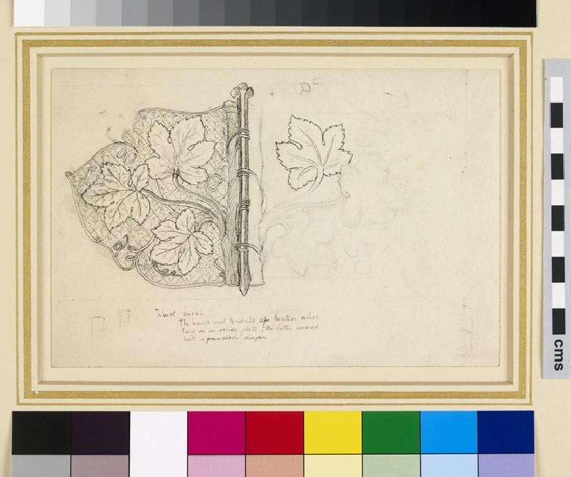 Design for a waist buckle (WA1941.108.2)