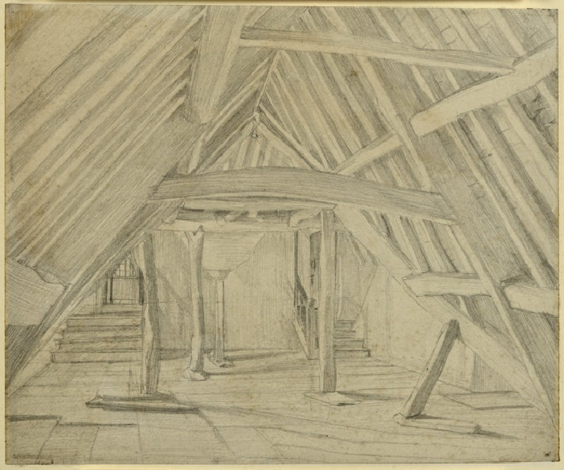 View of the attics at Kelmscott Manor