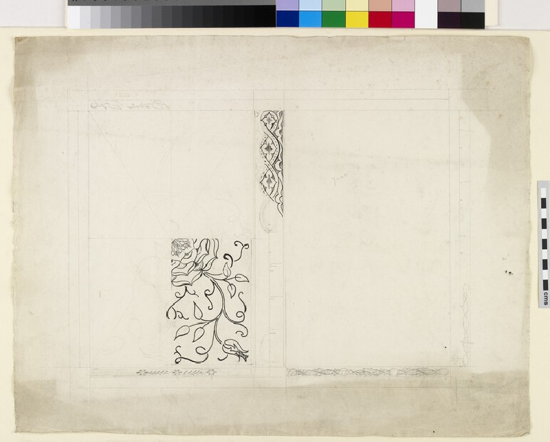 Design for back book cover of 'Love is Enough' (WA1941.108.26)