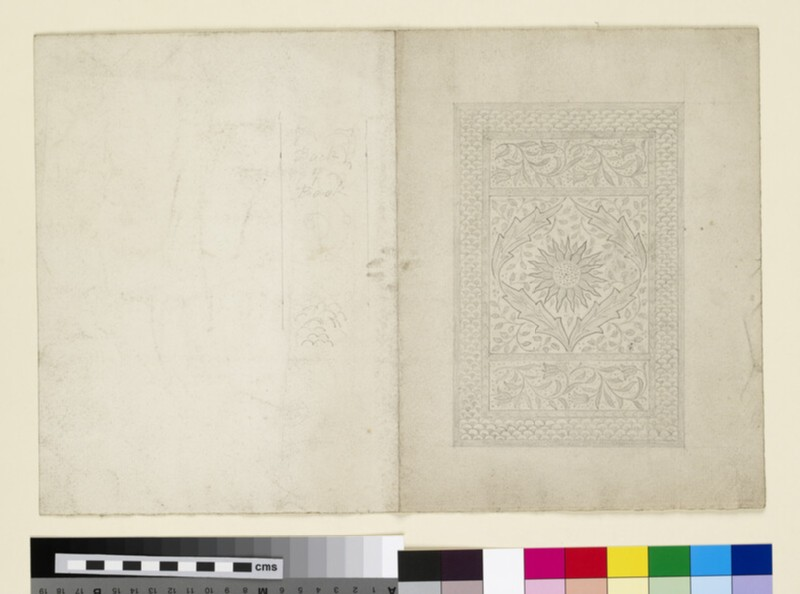 Bookcover design with sun and leaf motif