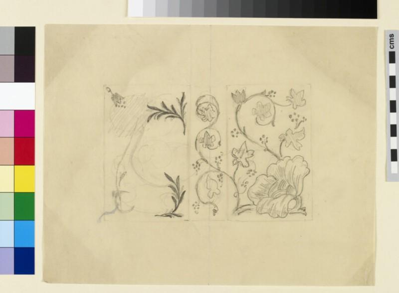 Bookcover flower design, probably for the Kelmscott Press