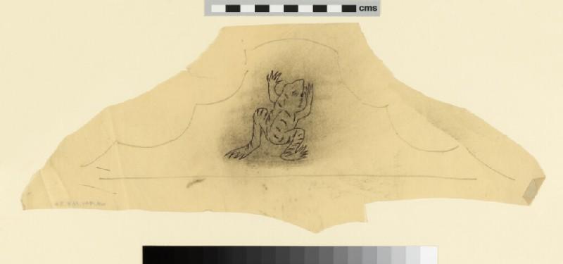 Design for the 'Kelmscott' bedspread: frog motif (WA1941.108.57)