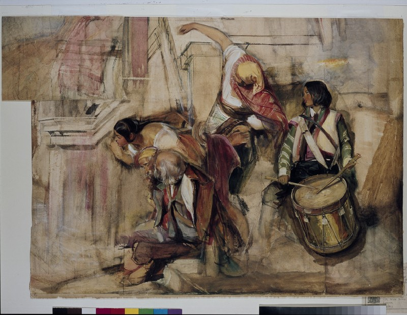 Study for 'The Proclamation of Don Carlos'