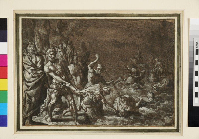 Recto: The Destruction of Pharaoh's Army<br />Verso: The Destruction of Pharaoh's Army
