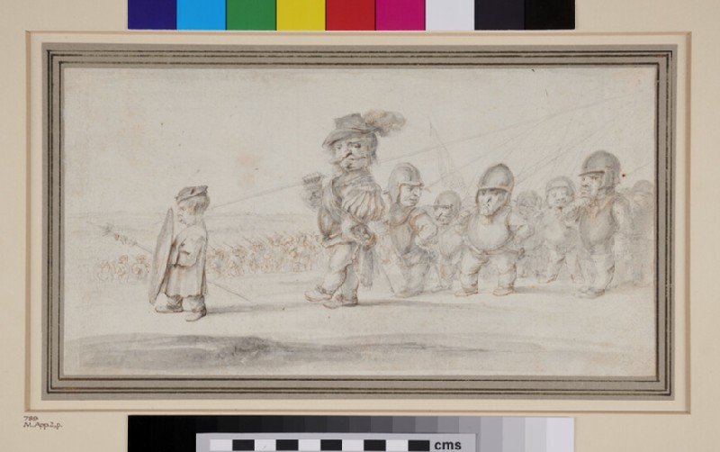 A Procession of dwarfish Soldiers