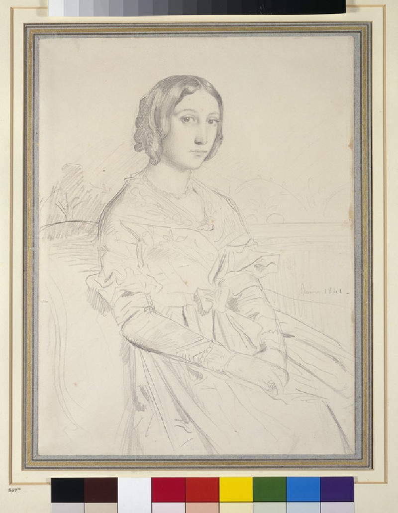 Portrait of a young woman, seated three-quarters to left (WA1941.154)