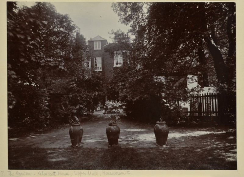 The Rear Garden at Kelmscott House, Upper Mall, Hammersmith (WA1941.171.7)