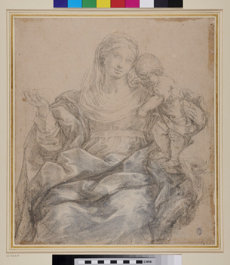 The Virgin and Child (WA1941.180, recto)