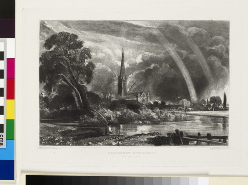 Salisbury Cathedral (small plate) (WA1941.200.105)