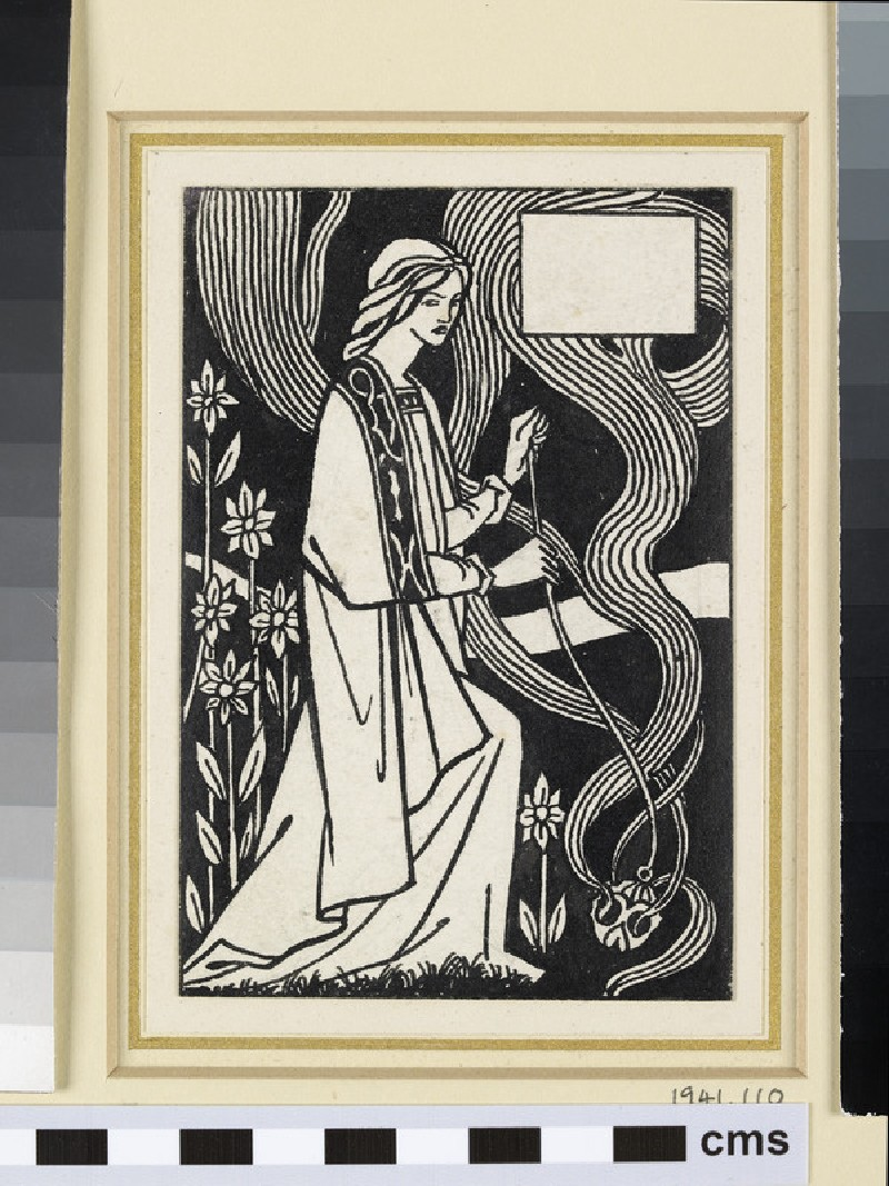 Female figure, for Malory's 'Morte d'Arthur'