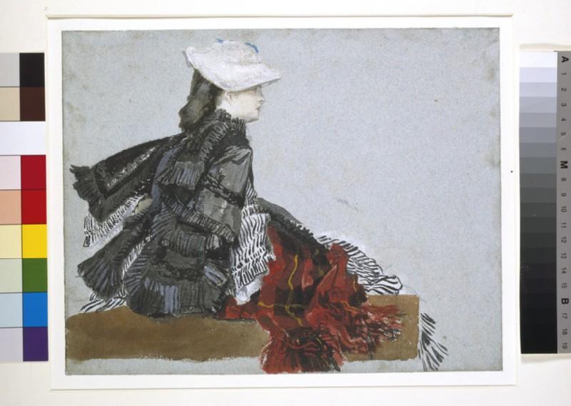 A woman seated in profile, facing right (WA1942.108)