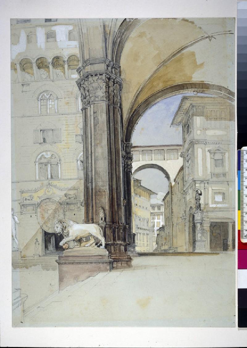 Florence: the Palazzo Vecchio and the Uffizi (WA1942.153)