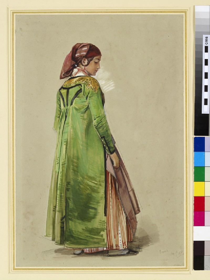 Study of a Girl in Neapolitan Native Dress