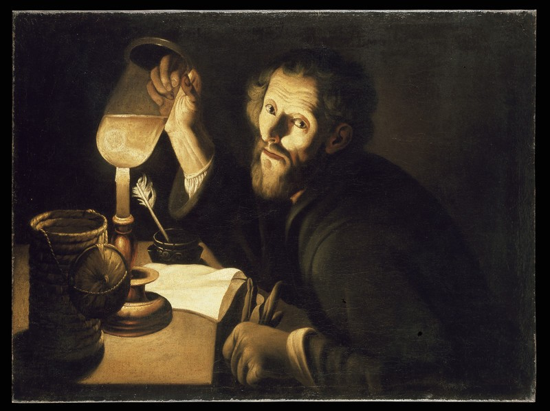 A Physician with a Urine Sample