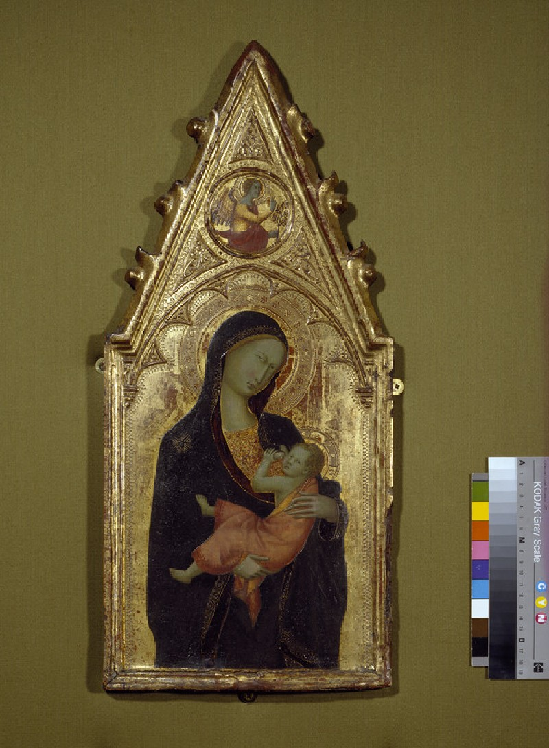 The Virgin and Child with the Angel of the Annunciation in the Gable (WA1942.48)