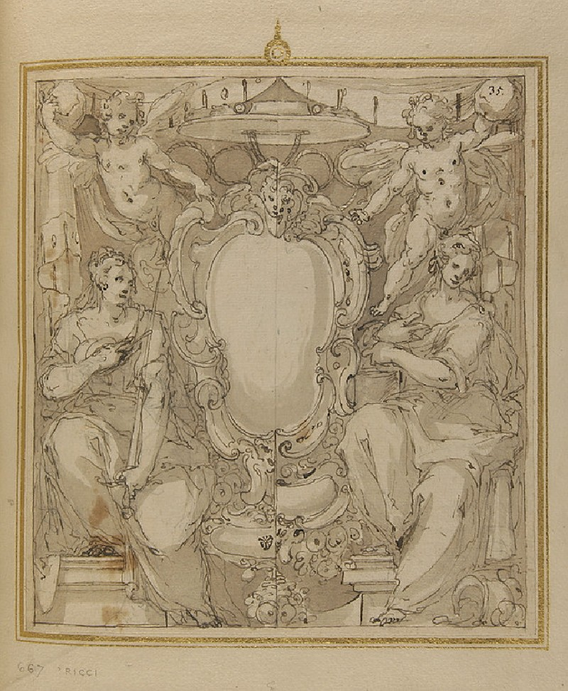 Design for the coat of arms of an ecclesiastic (WA1942.54.109)