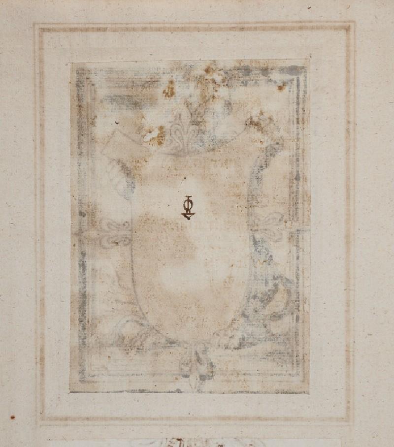 Lion holding a blank escutcheon