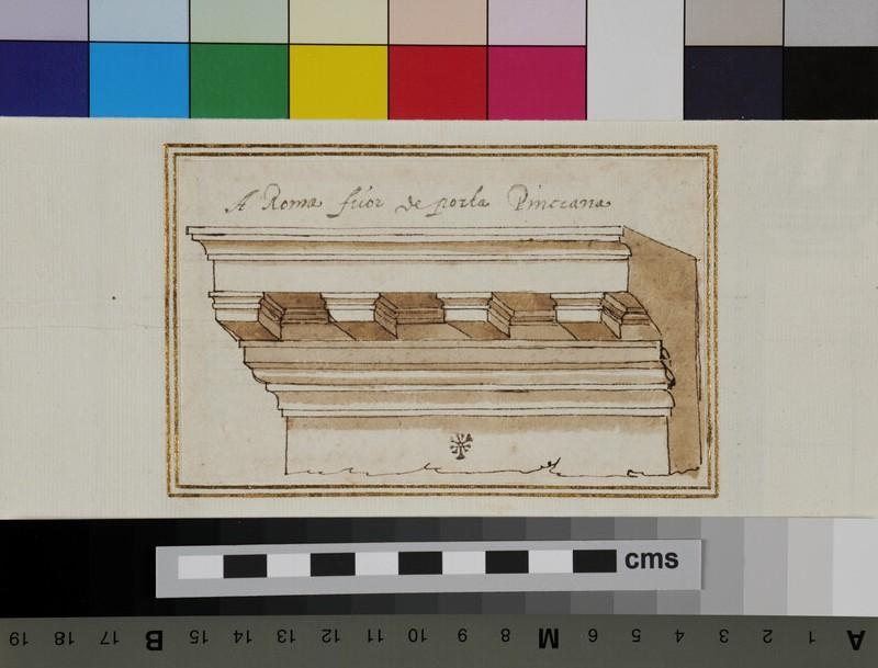 A cornice (WA1942.55.111.3, verso)