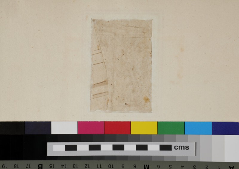 Recto: Half of a Corinthian capital, on a piece of paper pasted on<br />Verso: A fragment of an architecture (WA1942.55.126.1, recto)