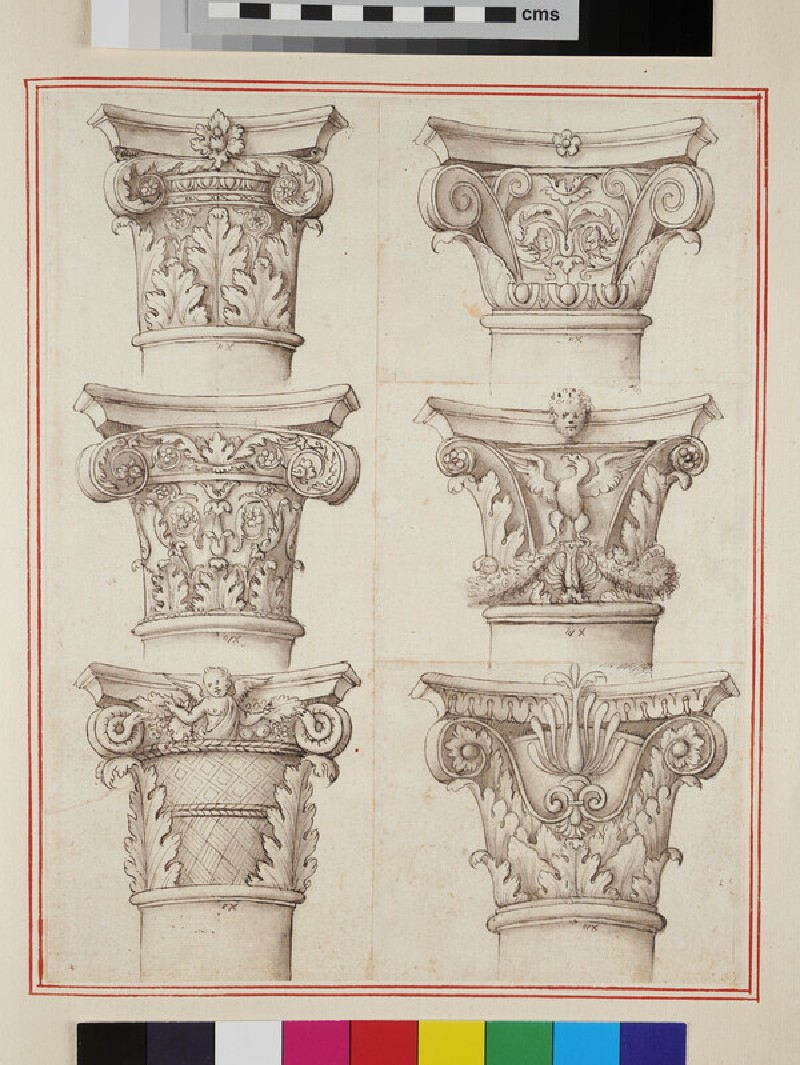 Six capitals of the Corinthian and Composite orders