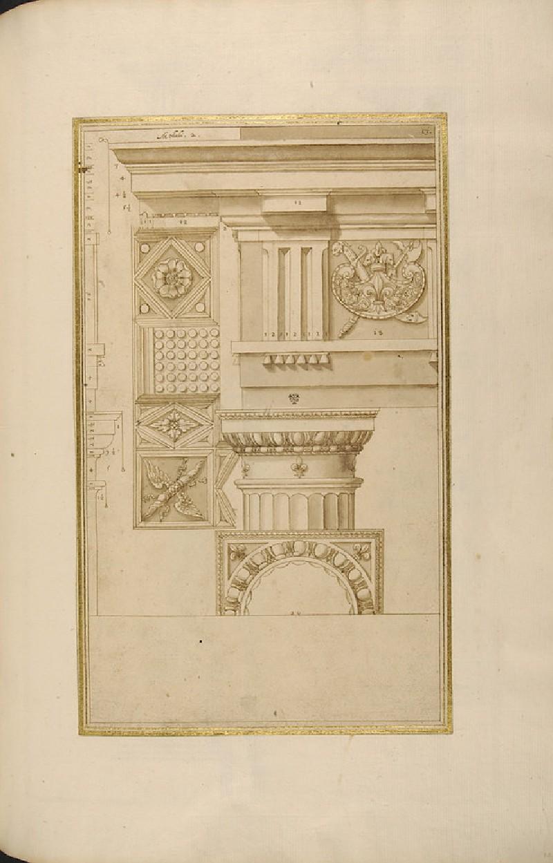 A Doric capital and its entablature (WA1942.55.101)