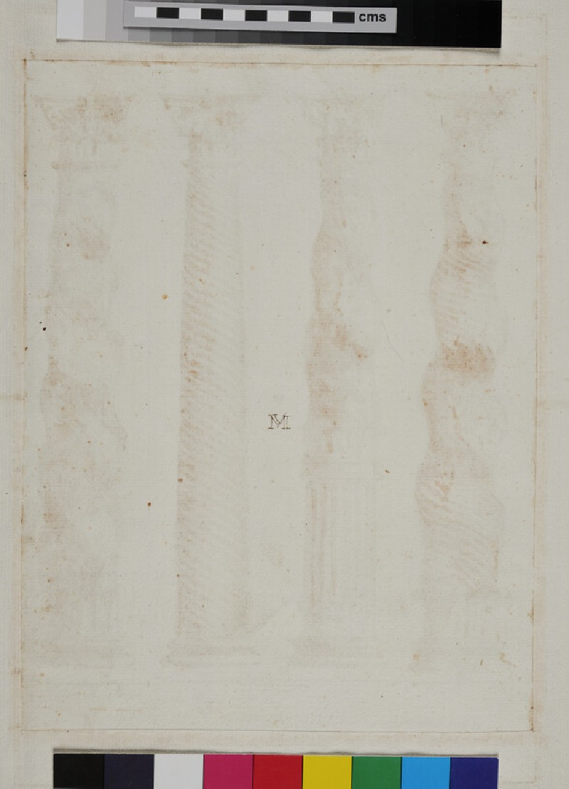 Three twisted columns and one with spiral fluting (WA1942.55.151, recto)