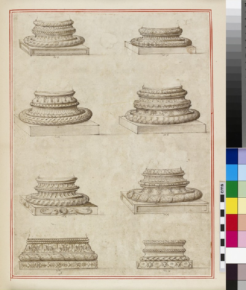 Eight column bases (WA1942.55.108)