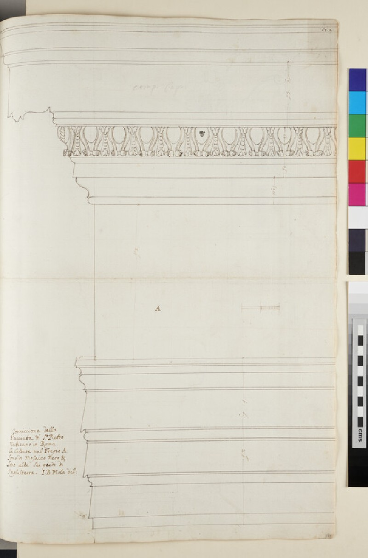 Recto: The external Corinthian cornice of the Basilica of St Peter, Rome <br />Verso: The internal Corinthian order of the Basilica of St Peter, Rome