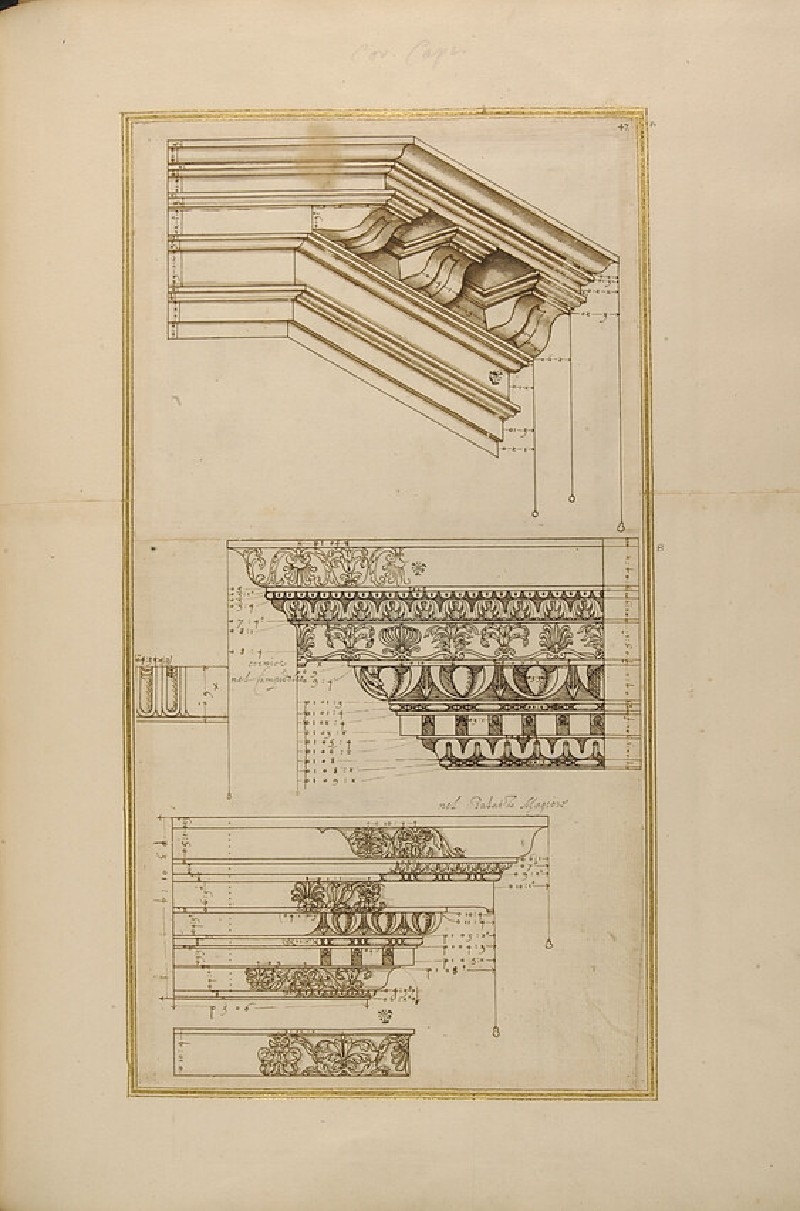 Plate 36: Composite capital and decorated base from the Temple of Apollo Sosianus, Romefrom 'Libro D'Antonio Labacco appartenente a l'Architettura'