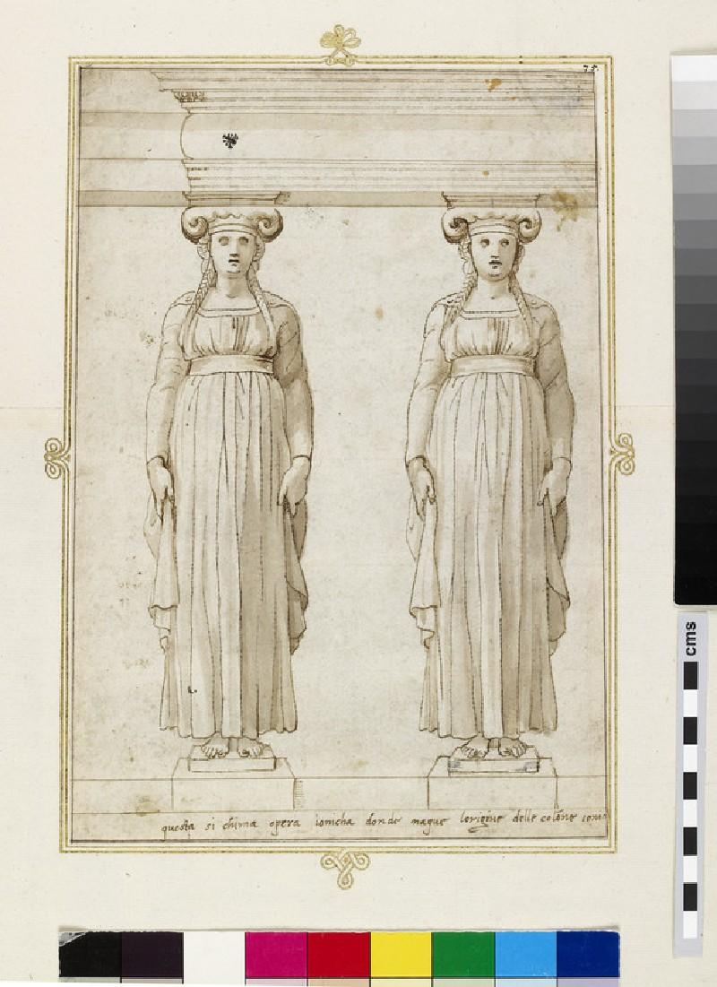 A pair of Ionic caryatids