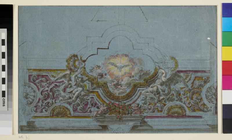 Design for a Ceiling (WA1942.70.1, recto)