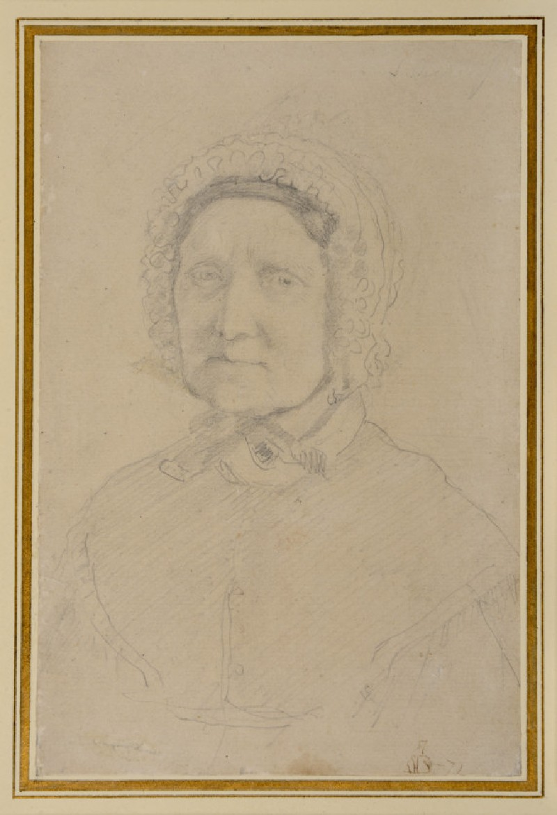 Portrait of Mary Blackmore ('The Nurse of Shelley')