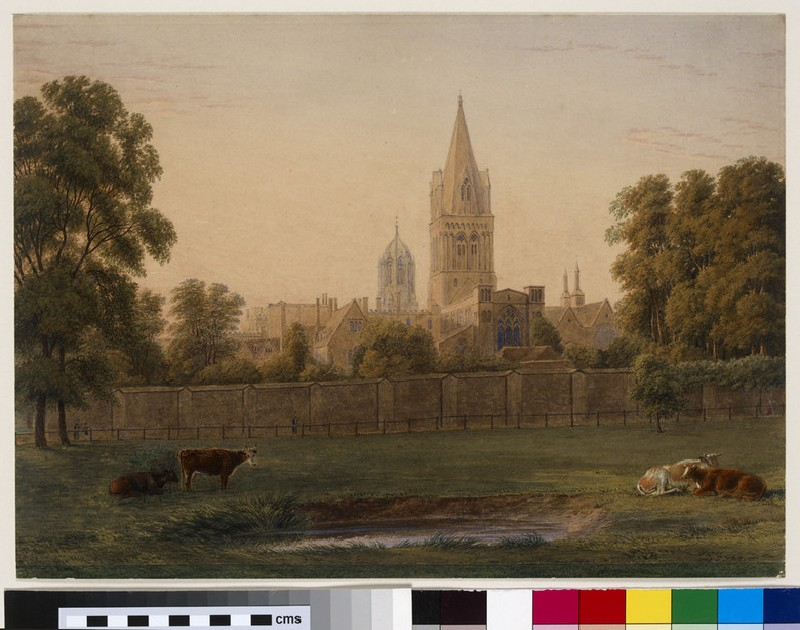 Christ Church Cathedral from Merton Meadow, Oxford (WA1943.24)