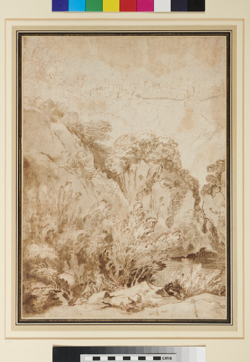 Study of Rocks and Trees (WA1943.76, recto)