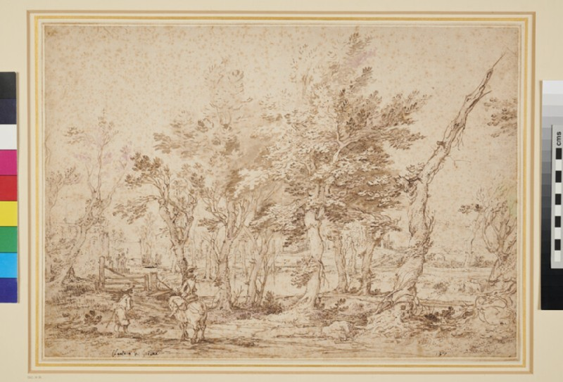 Landscape with Horseman and Figure