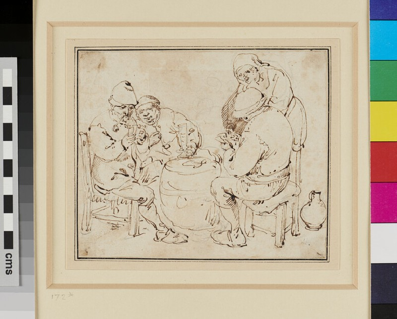 Peasants in a Tavern playing Cards